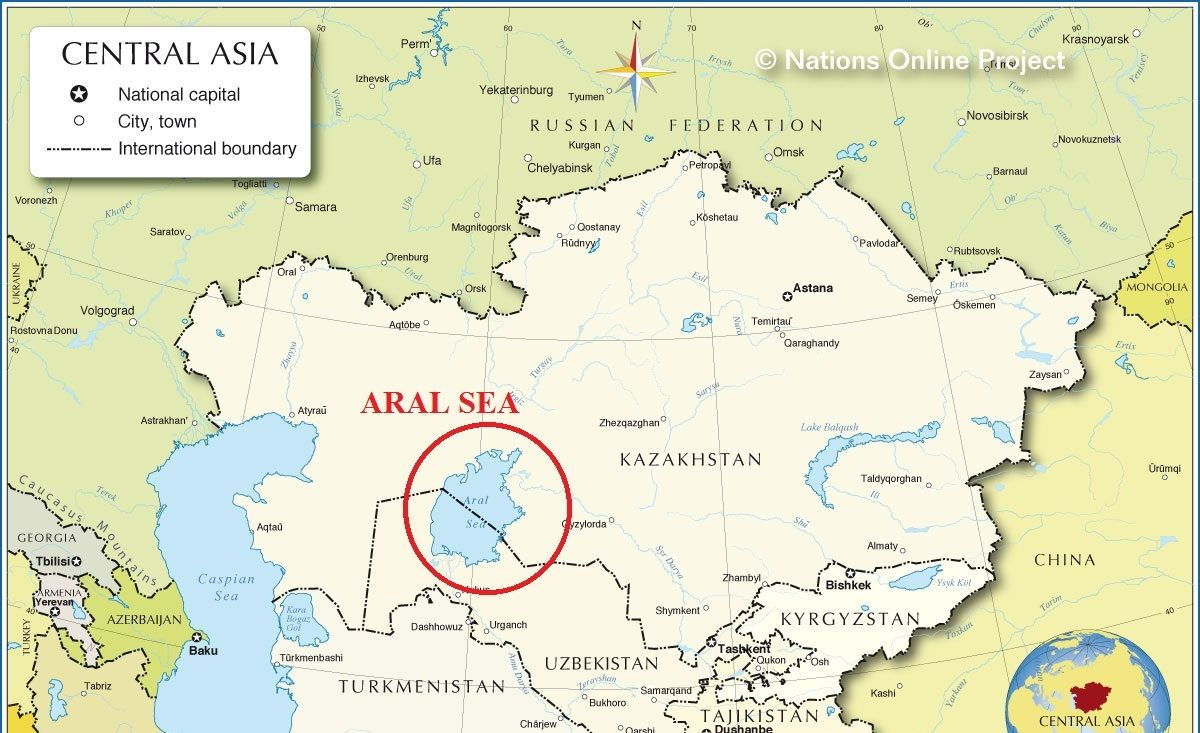 Image Result For Aral Sea On World Map World Geography Pinterest