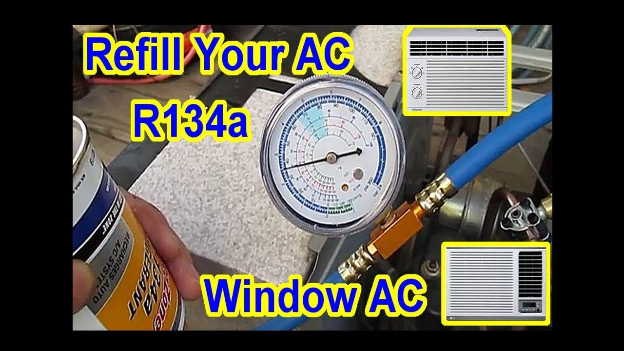 DIY 5 AC Window Air Conditioner Refill with R134A All