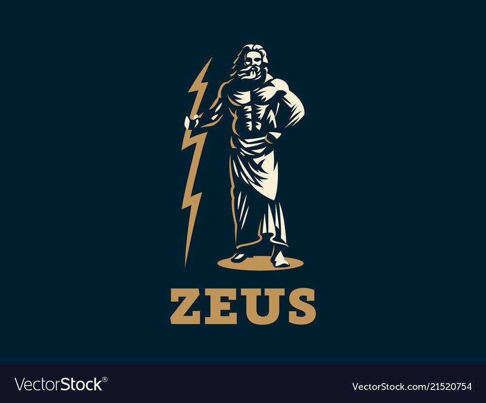 The greek god zeus vector image on | Zeus