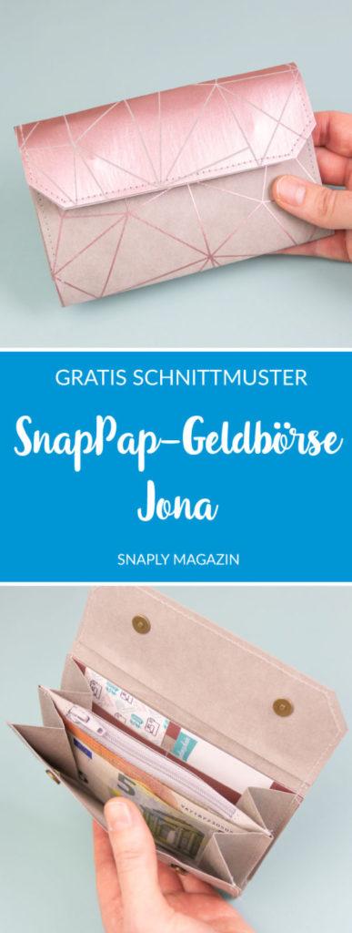 SnapPap-Geldbörse «Jona» nähen – kostenloses Schnittmuster | Snaply-Magazin