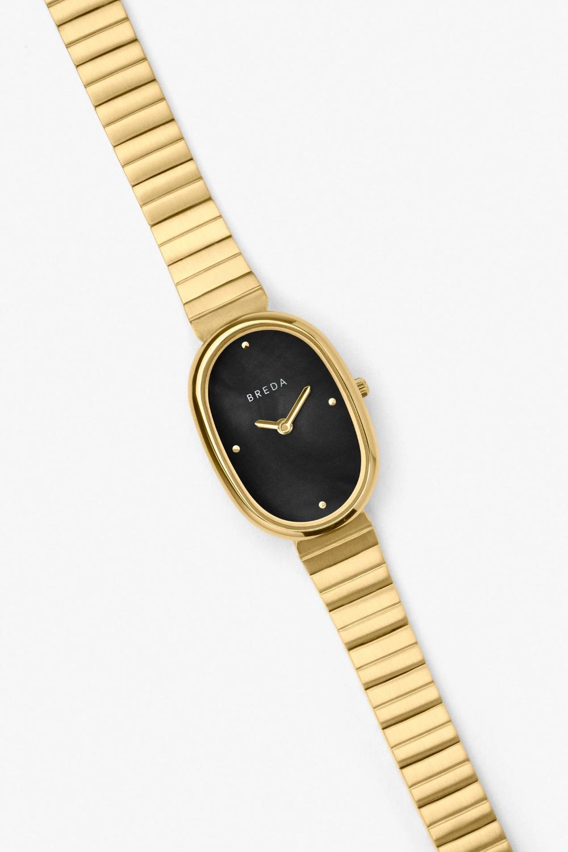 Jane Gold Gold Midnight Bracelet Watches Women Gold Stainless Steel Bracelet