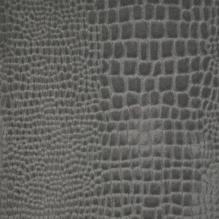 Maxwell Fabrics  Untamed Soft Croc in Soot