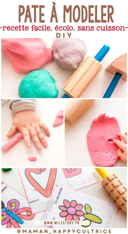 DIY : recette pâte à modeler naturelle facile et rapide sans cuisson pour bébés et enfants en ...