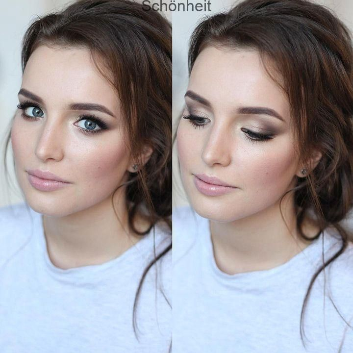 Photo of I love this soft smokey eye – beautiful soft bridal makeup, #br …