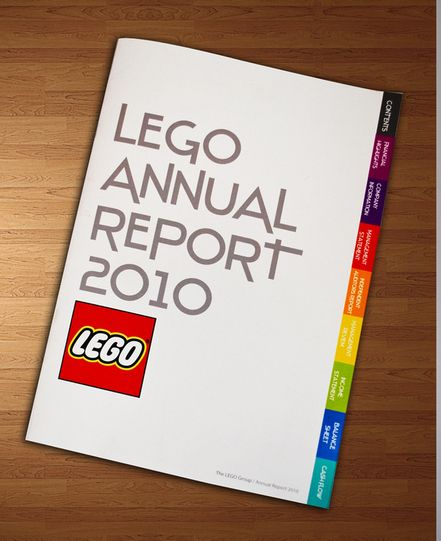 LEGO Annual Report by Sofía González, via Behance