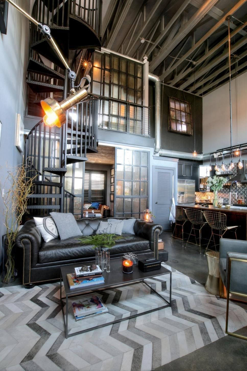 Steampunk Industrial Living Room Steampunk Home Decor Home Steampunk House