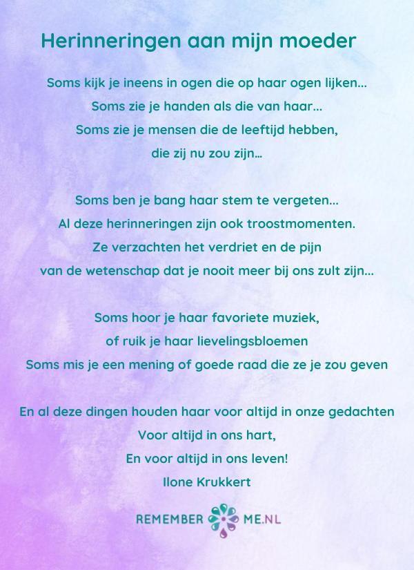Een Nieuw Gedicht Van Ilone Krukkert Een Mooi Gedicht Over