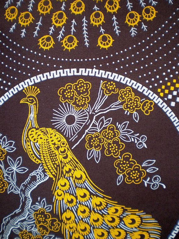 Brown And Yellow Living Room Decor: The Peacock Yellow And Brown Original By