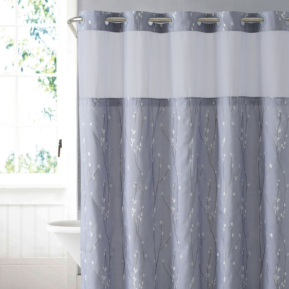 Hookless Cherry Bloom Shower Curtain Liner Curtains Cherry