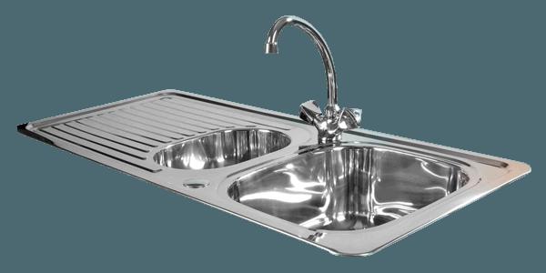 Stainless Steel Kitchen Sink Transparent Image