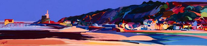 Mumbles Front by Michelle Scragg Ltd Edition Print
