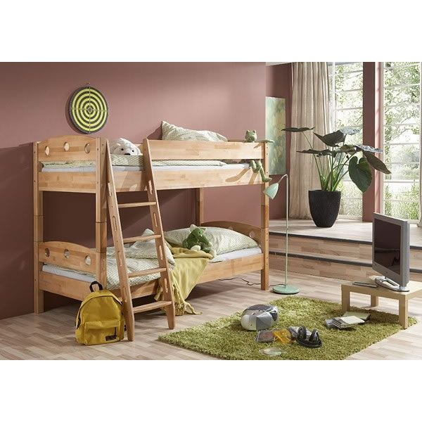 Trios Solid Off White Finish Triple Sleeper Bunk Bed Bunk Beds