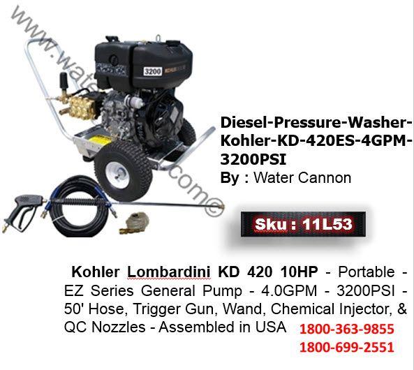 Diesel Pressure Washer Kohler: This Water Cannon Pressure Washer ...