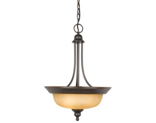 Bristol 2 light 23 oil rubbed bronze indoor pendant at menards