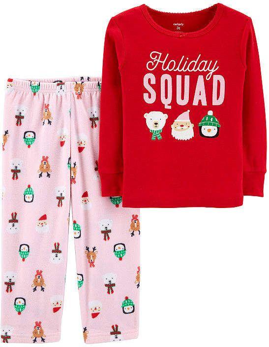 ba3f2146f Carter's 2-Pc. Holiday Pjs - Toddler 2-pc. Pant Pajama Set Girls ...