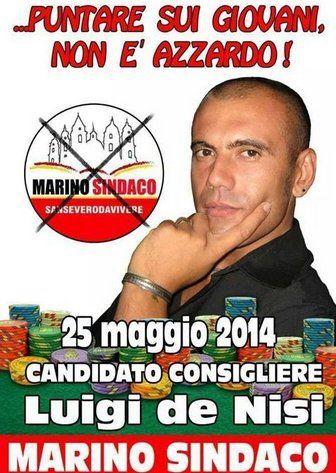 Luigi De Nisi, il candidato foggiano che punta sul poker per raccogliere voti - http://bit.ly/1qCCngG