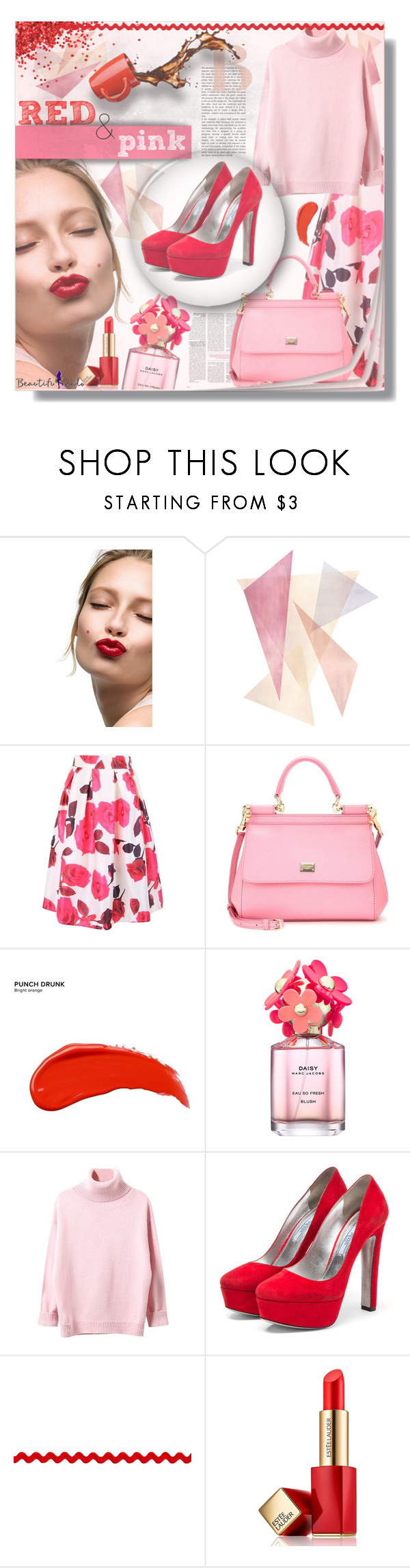 """""""Beautifulhalo.com"""" by mariamharrasova ❤ liked on Polyvore featuring Clarins, Dolce&Gabbana, Urban Decay, Marc Jacobs, Prada, Estée Lauder, women's clothing, women, female and woman"""