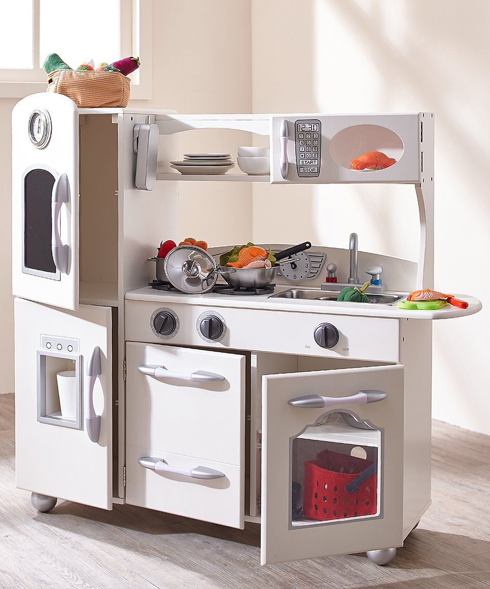 Take a look at this White Play Kitchen today! | ###ZULILYstuff ...