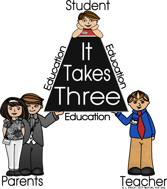 Image result for it takes three parent student teacher