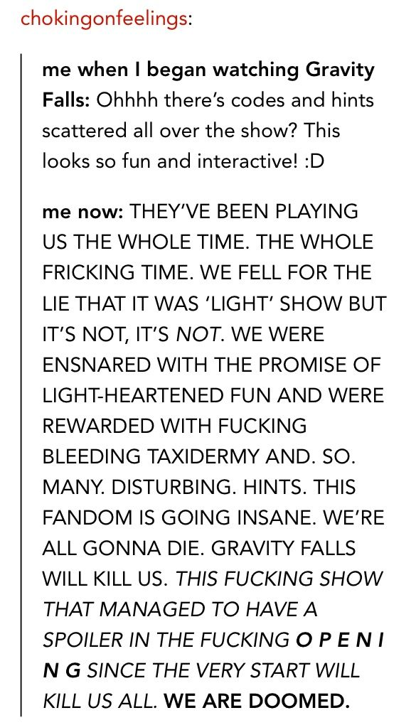 Sorry bout the swearing but GUYS YOU KNOW ITS TRUE AHHHHHH<<<< THE UNIVERSE IS GOING TO BE DESTROYED!!!! THANKS A LOT ALEX HIRSCH