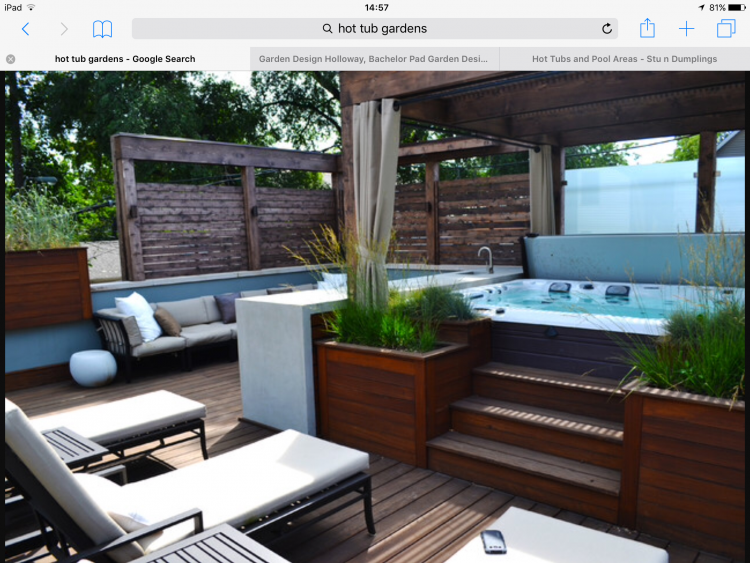 Outdoor Living Jacuzzi Hot Tub Landscaping Hot Tub Garden Hot