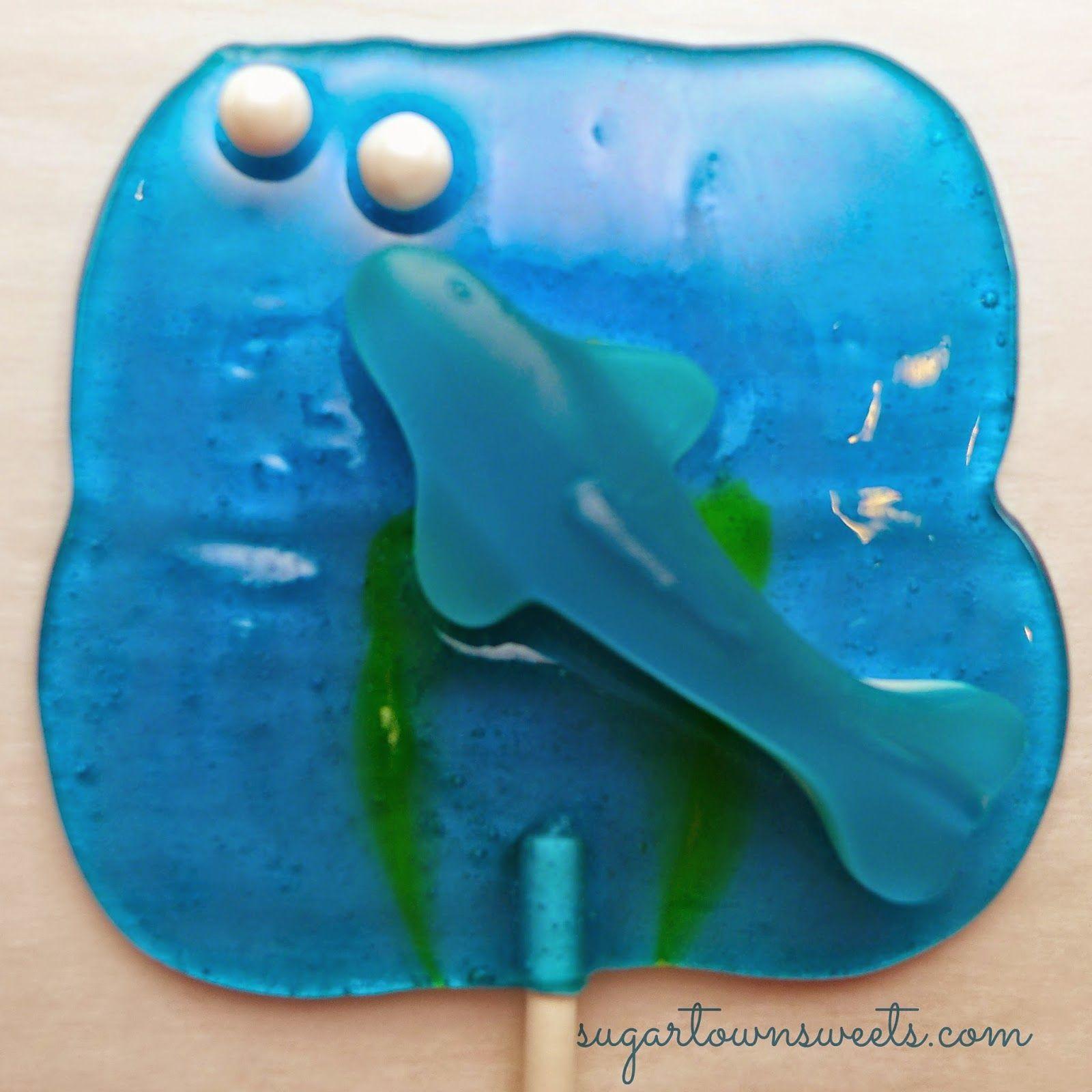 Sugartown Sweets: Shark Week Lollipops!