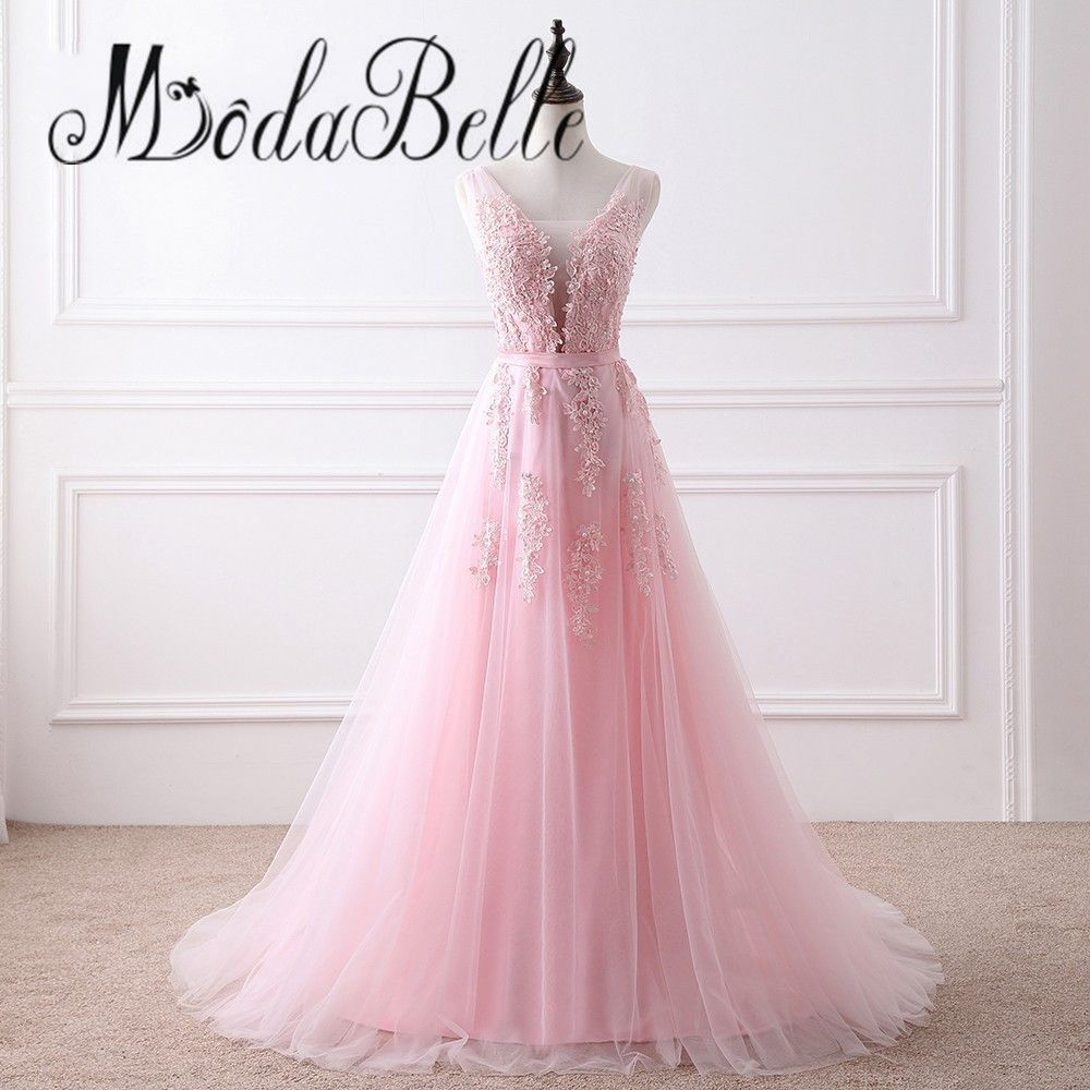 Click to buy ucuc modabelle cheap princess beaded lace prom dress