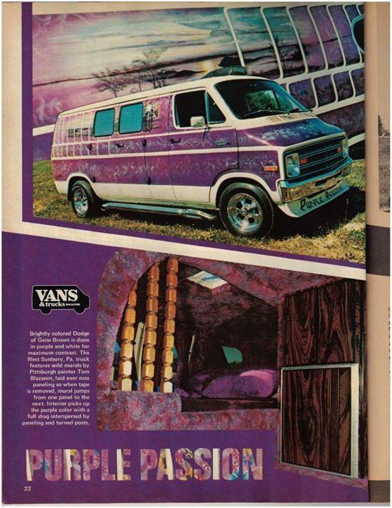Purple Passion Custom 70 S Dodge Van Custom Vans Gmc Vans Old School Vans