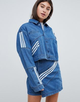 buy online 9ca77 8a66c adidas Originals X Danielle Cathari Diagonal Side Stripe Denim Jacket