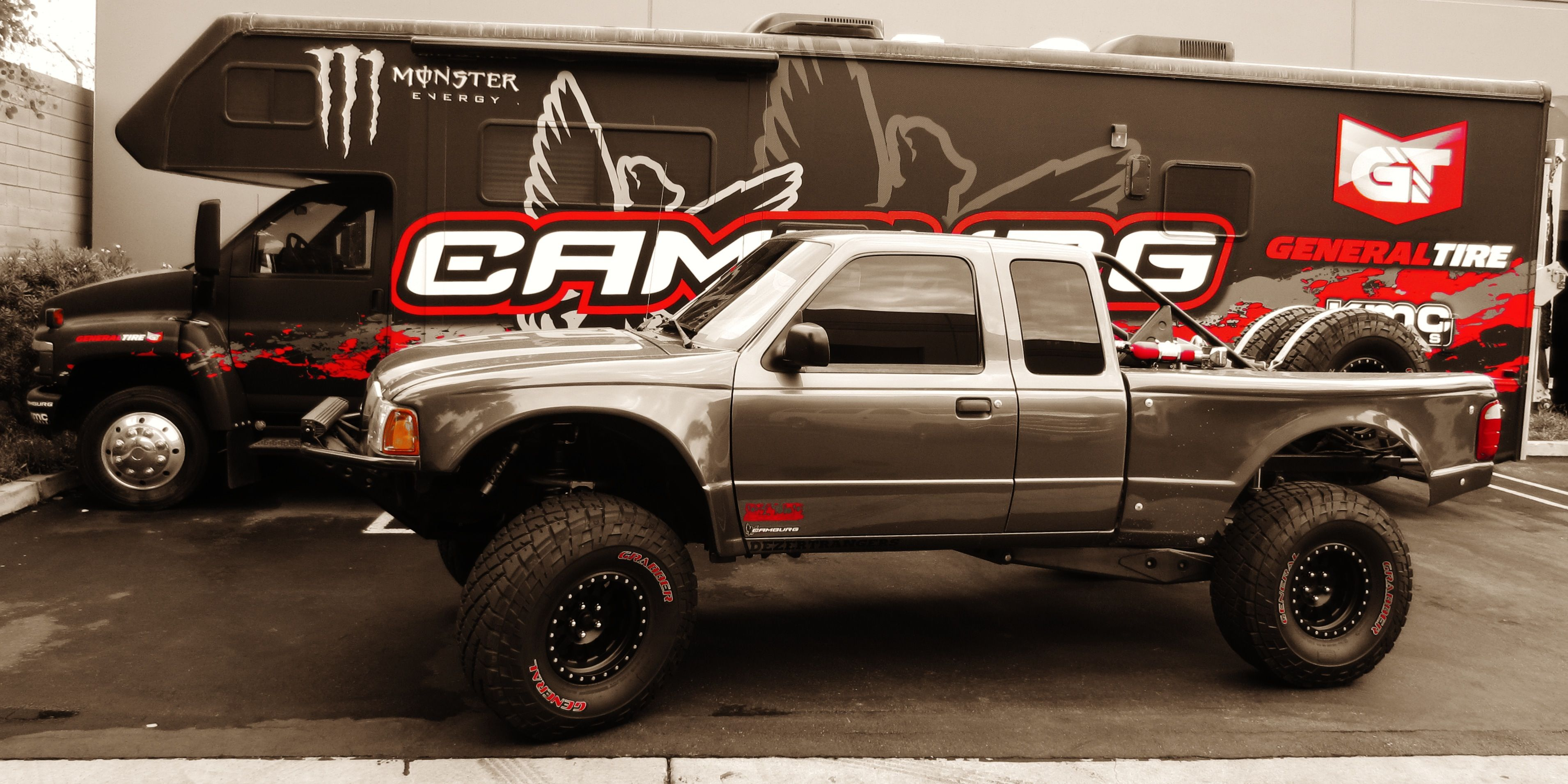 1998 to 2014 ford ranger front fenders with 6 flare and 4 rise glassworks