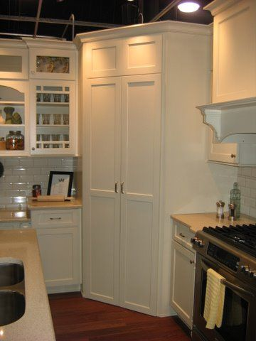 Pantry Built In The Corner Or Do This With Fridge My