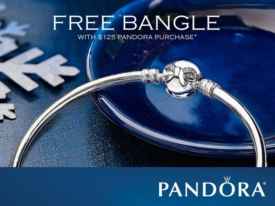 Free Limited Edition Bangle With Your 125 Pandora Purchase