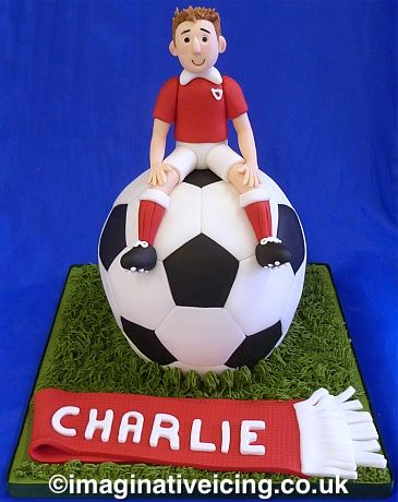 Cute sports Birthday Cake FUNFUNKY CREATIVE CAKES Pinterest