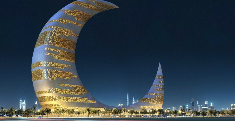 Crescent Moon Tower Dubai Amazing Buildings Places To Travel Places To Visit