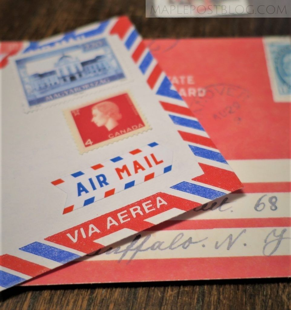 Review Azmari Air Mail Stickers Maple Post Pen Pal Letters Air Mail Mail Letters