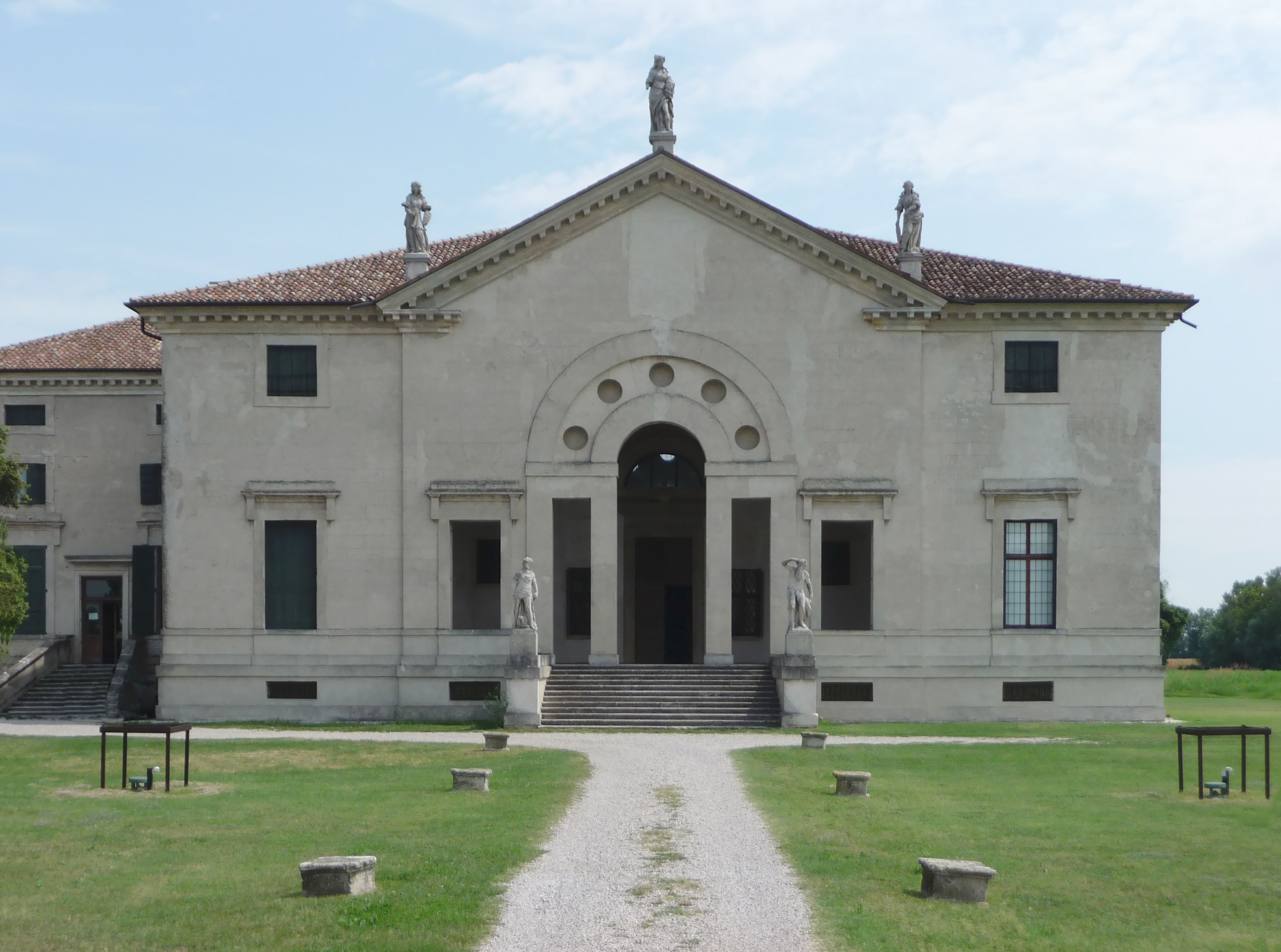 Villa Pojana by Andrea Palladio - It's my favourite because of an entrance and overall it's different than others Palladio's villas. It was built in 1548-49.