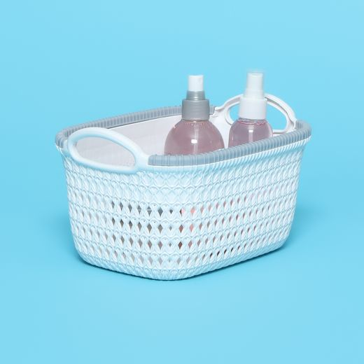 Small Plastic Woven Basket With Handles Hollar Shop Deals