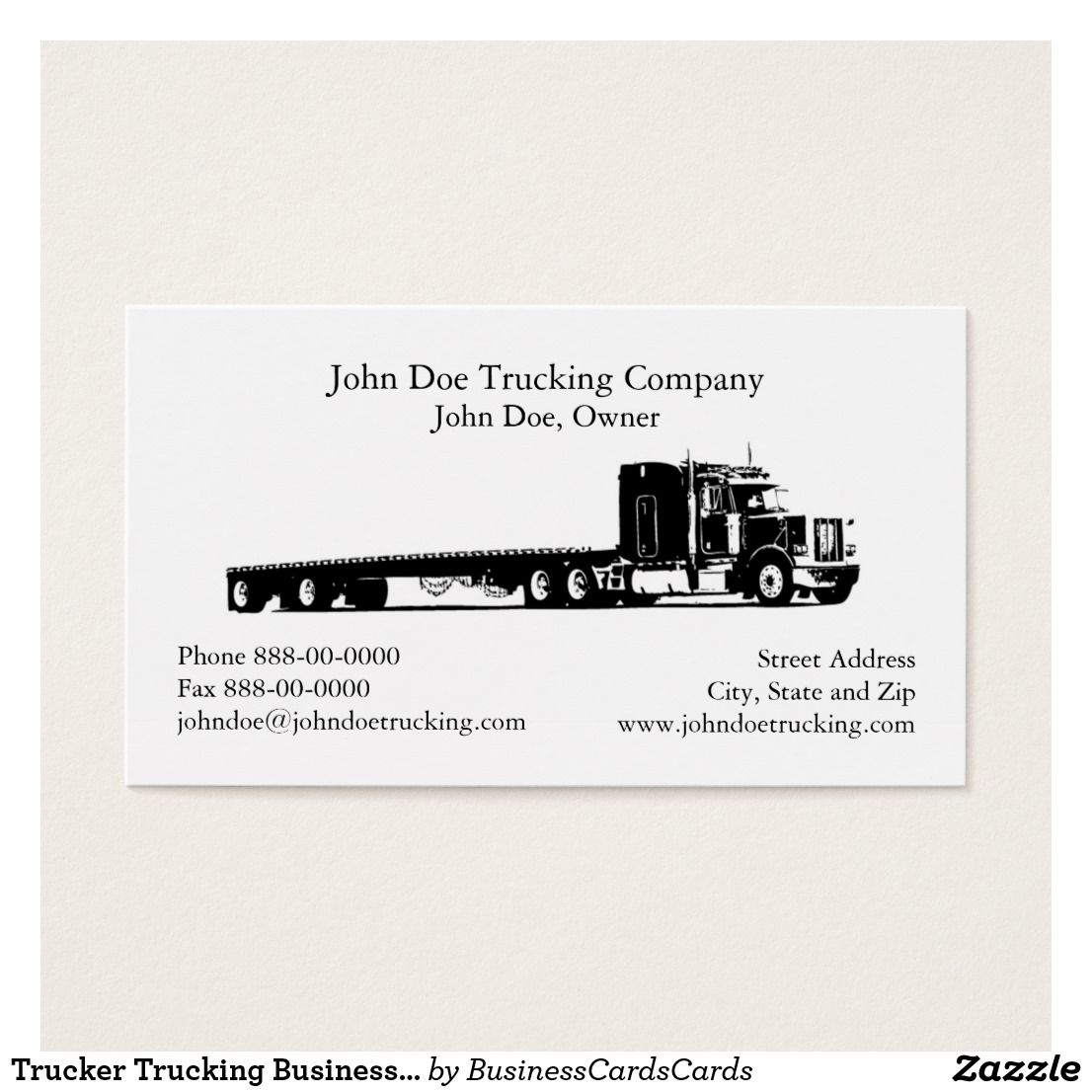 Trucker Trucking Business Card | Business cards and Business