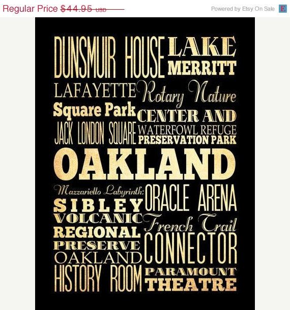 Oakland poster - change names to places personal to our family