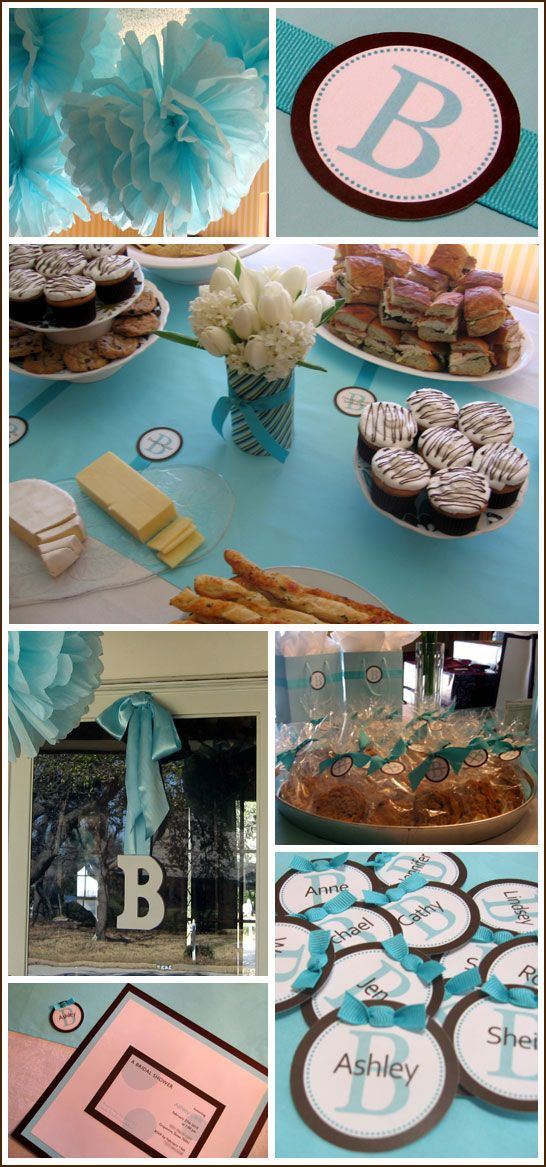 Real Party Tiffany Blue And Brown Shower Tiffany Blue Bridal