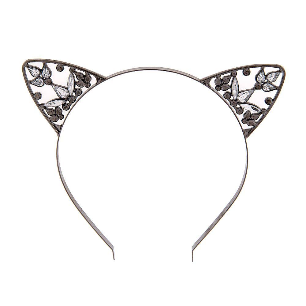 00648da78 Hematite and Crystal Cat Ears Headband | Claire's | Like!/want ...
