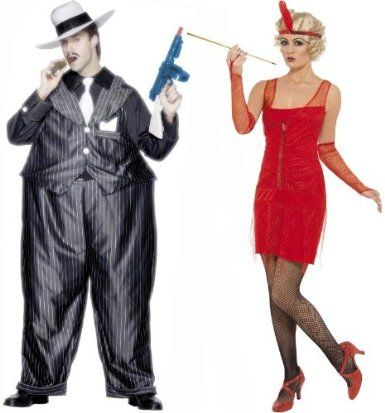 20u0027s Red Flapper u0026 Fat Cat Gangster Couples Costume Set - Couples Halloween Costumes  sc 1 st  Pinterest & 20u0027s Red Flapper u0026 Fat Cat Gangster Couples Costume Set - Couples ...