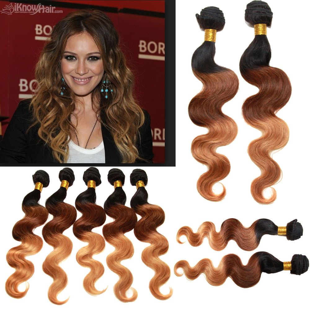 Us Ship 14 20 Ombre Brazilian Virgin Body Wave Remy Human Hair