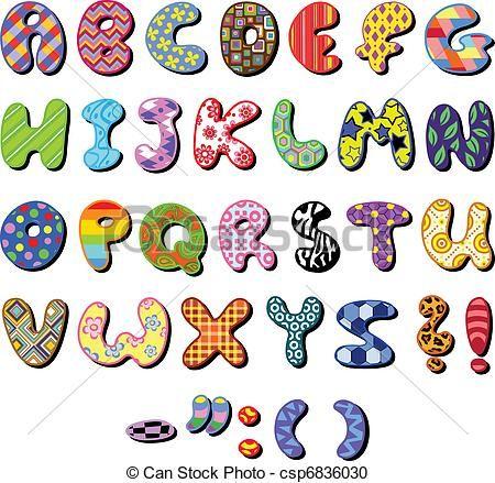 vector patterned alphabet stock illustration royalty free rh pinterest co uk free alphabet clipart word free alphabet clip art letters