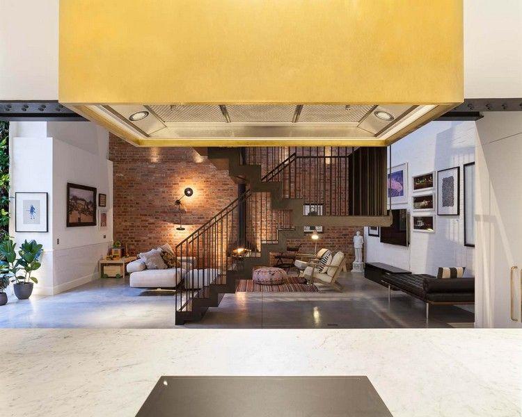 holz-stahltreppe innen schwarz blick wohnzimmer küche bronzene - wohnzimmer schwarz holz