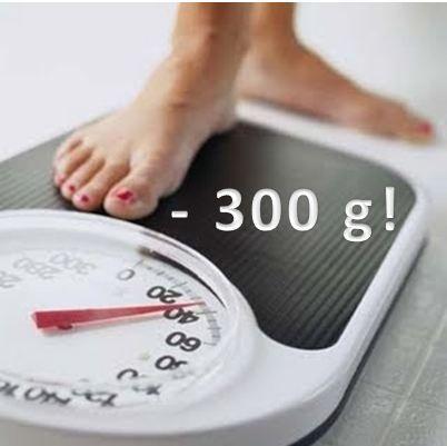 300 gramas perdidos!