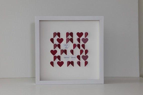 folded heart art
