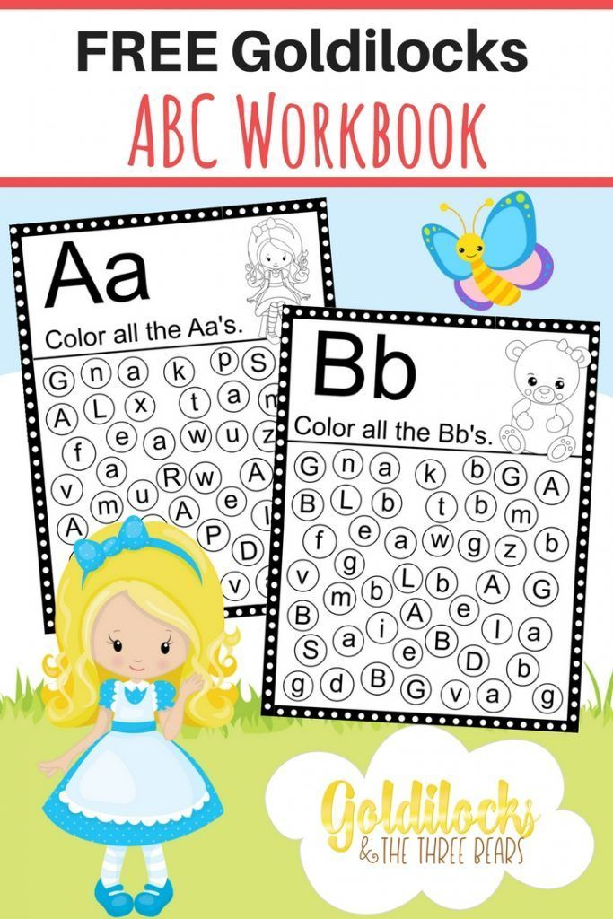 FREE Goldilocks ABC Workbook