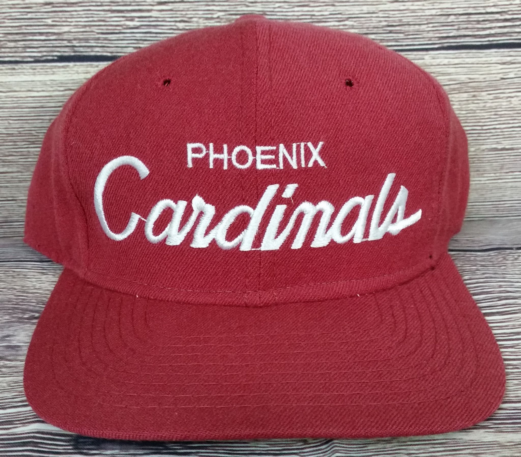 various styles on feet images of separation shoes Phoenix Cardinals Vintage Snapback Sports Specialties Script Hat ...