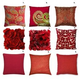 Decor Trends   How To Be Trendy   Red pillows, Red decorative